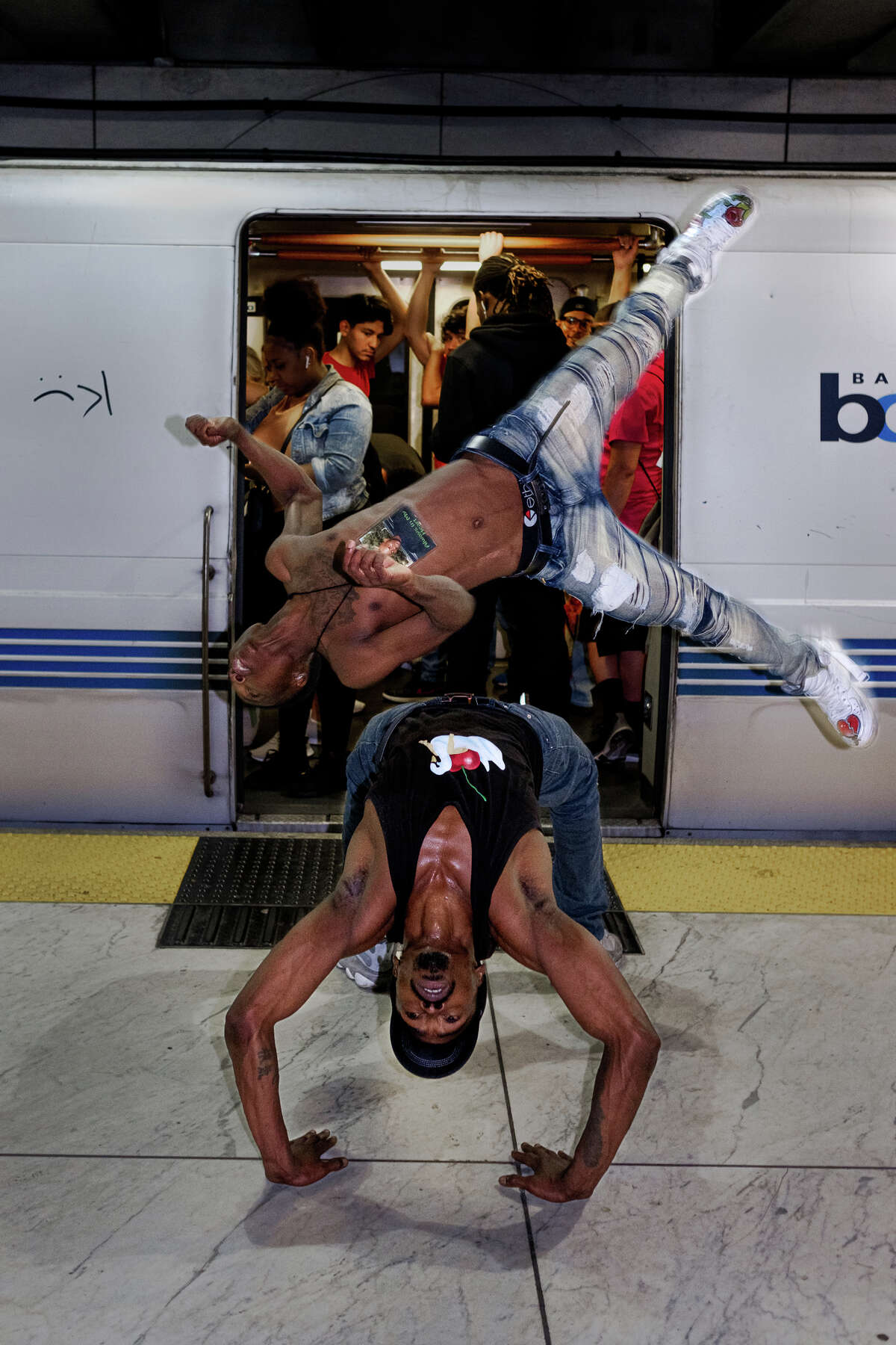 Best Alive performs at (and on) various BART stations and trains.