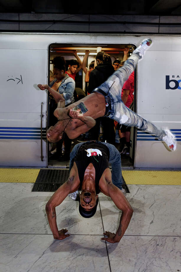 Best Alive performs at (and on) various BART stations and trains. Photo: Alexander Nicholson