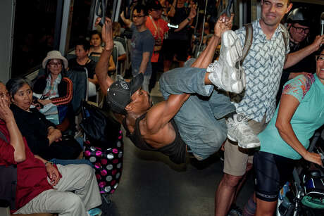 Best Alive performs on various BART platforms and trains. Photo: Alexander Nicholson