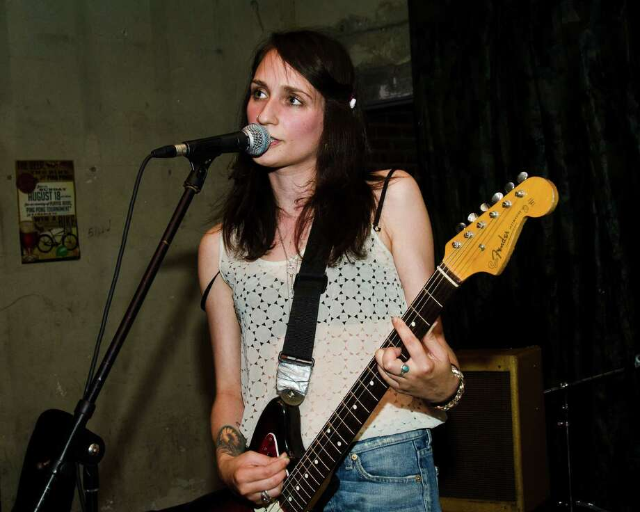 "Sadie Dupuis of Speedy Ortiz, shown here in 2013, got a guitar for her 13th birthday but most ""girls weren't really pushed in that direction."" Photo: Photo For The Washington Post By Josh Sisk / 2013 Josh Sisk"