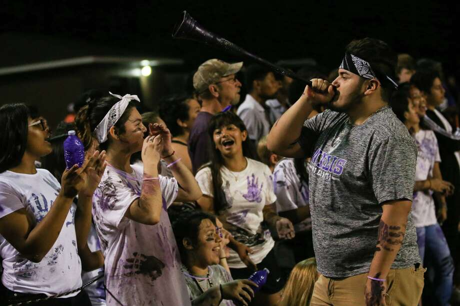 Willis High School Pit Kru members, pictured in this file photo, will now have a designated student section at home games. (Michael Minasi / Houston Chronicle) Photo: Michael Minasi, Staff Photographer / Houston Chronicle / © 2017 Houston Chronicle