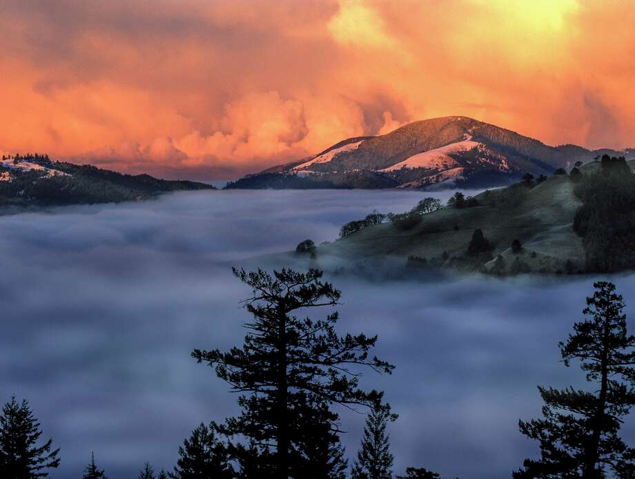 A sunrise sets clouds ablaze over the King Range National Conservation Area in Humboldt County. To see other remote California destinations that tend to have few visitors compared to Yosemite or Lake Tahoe, click or swipe through the gallery. Photo: CampPhoto/Getty Images