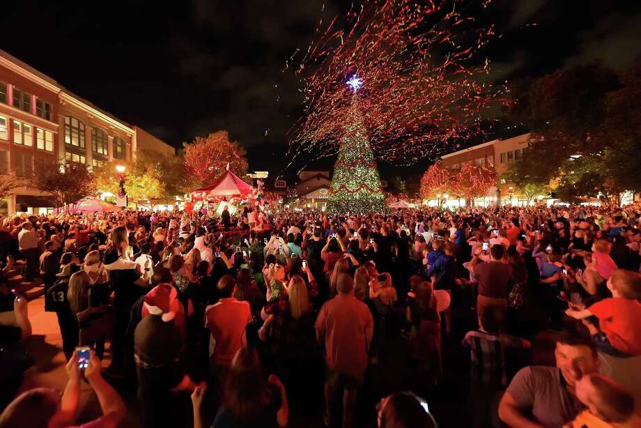 Each year, Market Street chooses a local child or family to turn on the holiday lights at the shopping complex, kicking off the season by celebrating a deserving community member. Photo: Market Street