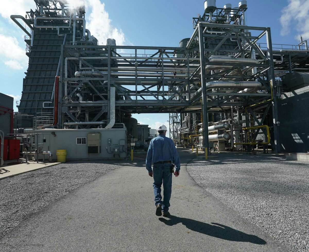 General Manager Darryl Nitschke makes the rounds of the Panda Power Plant in Sherman, Texas, north of Dallas, on Tuesday, September 10, 2019. The power generator depended on the grid manager in Texas to provide accurate forecasting and built three plants -- including the one in Sherman -- because the grid manager said Texas needed more power. But it turned out Texas had plenty of power, and Panda says it has lost a substantial amount of money as a result. CREDIT: Louis DeLuca for The Houston Chronicle PANDA POWER ERCOT