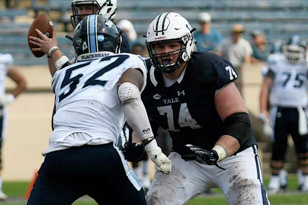 Yale offensive lineman Sterling Strother.