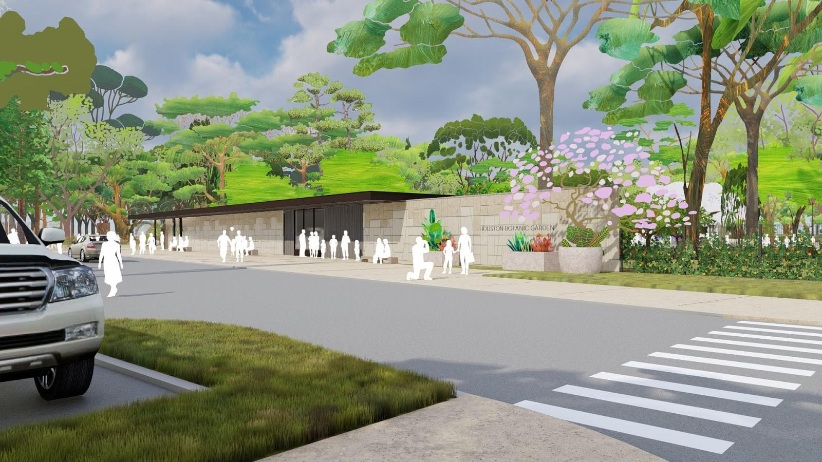 Houston Botanic Garden's edible 'rooms' will lead visitors around the world in an acre