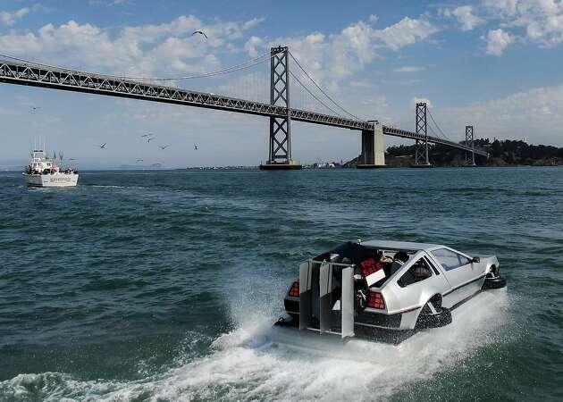 Inside San Francisco's 'Back to the Future' DeLorean hovercraft replica