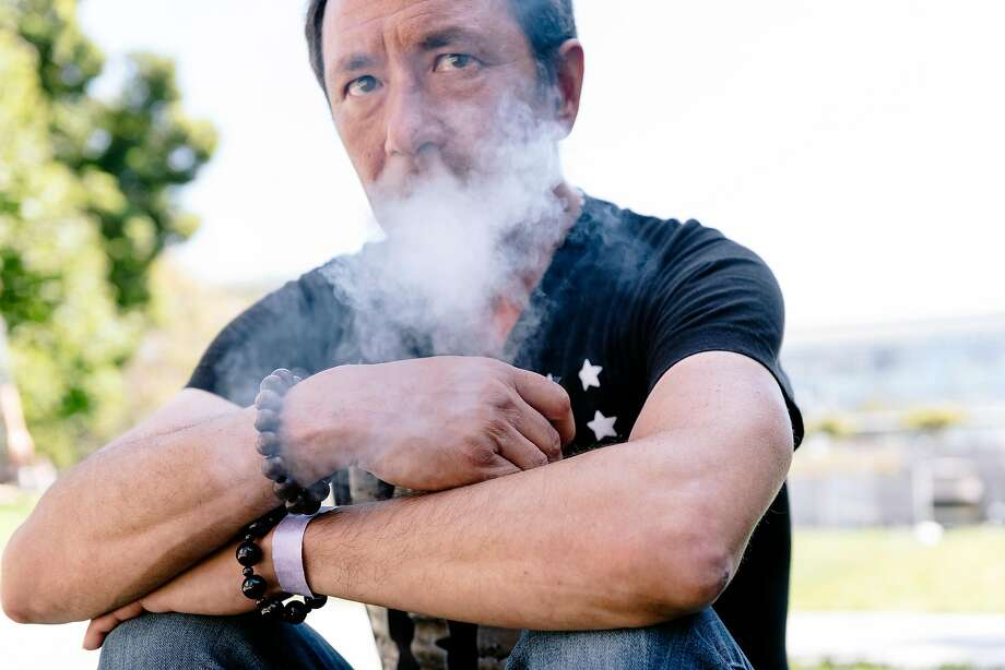 John Petitt says vaping with Juuls helped him kick his 30-year addiction to cigarettes. Photo: Michael Short / Special To The Chronicle