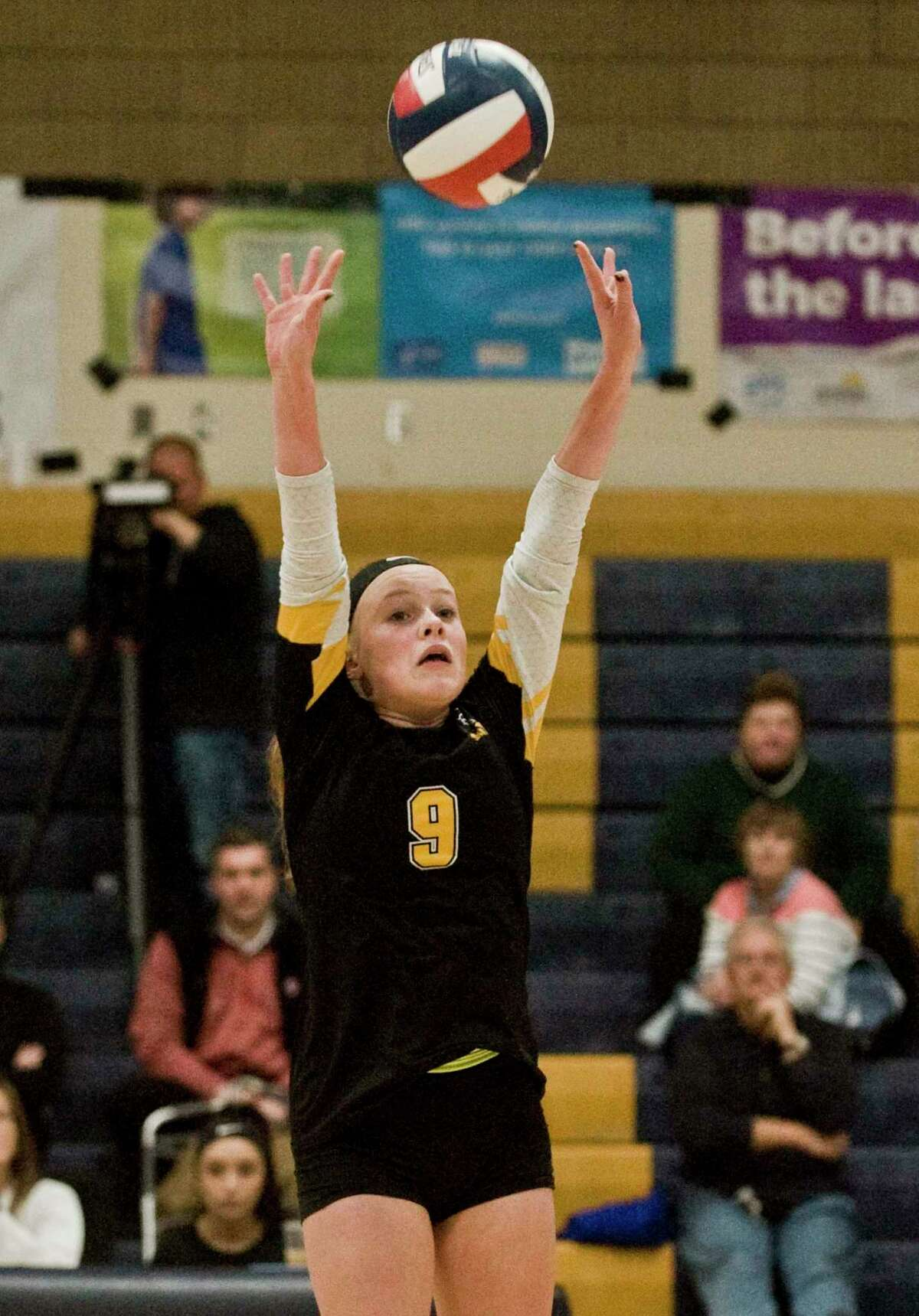 Amity's Zoe DiZenzo racked up team-highs in assists (886) and aces (68) as a sophomore last fall.