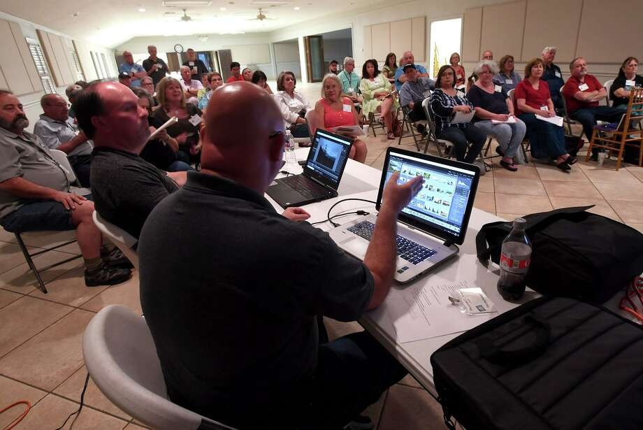 Tim McDonald talks to the Beaumont Camera Club Monday about image processing software. Photo taken Monday, 9/2/19 Photo: Guiseppe Barranco/The Enterprise / Guiseppe Barranco/The Enterprise / Guiseppe Barranco ©