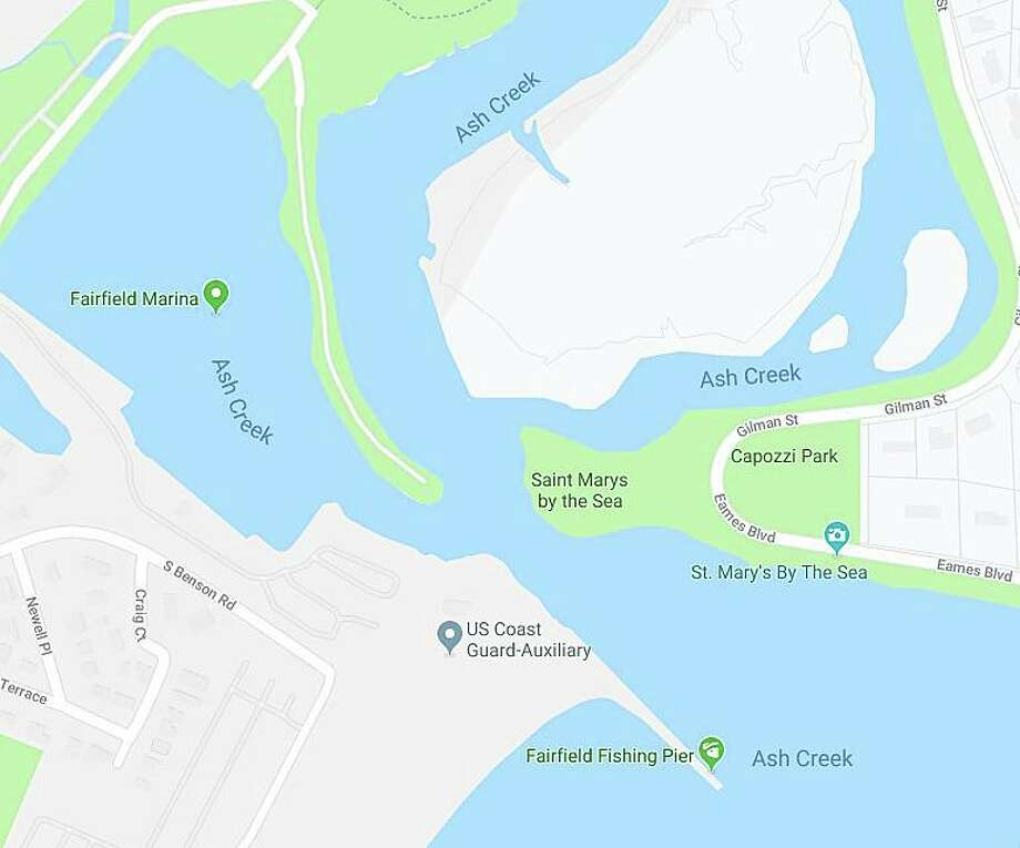 The area where the boater was in distress between Fairfield and Bridgeport on Wednesday, Sept. 11, 2019. Photo: Contributed Photo