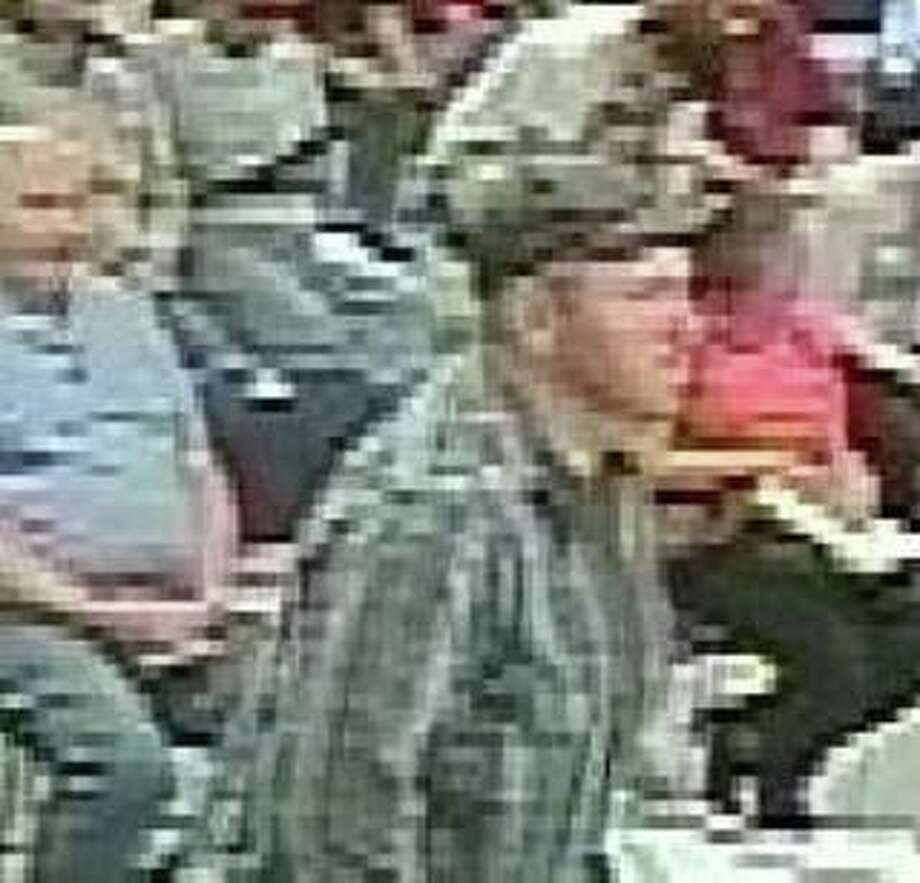 State police said the man captured in the image above made a threatening statement around 11:15 a.m. Tuesday at the Willimantic DMV branch at 1557 Main St. Photo: Contributed Photo / Connecticut State Police