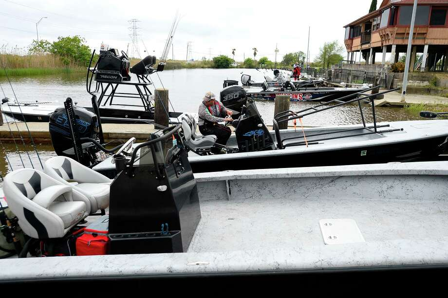 Anglers head to the dock after a day of fishing for the Elite Redfish Series in Port Arthur. Photo taken Thursday 4/5/18 Ryan Pelham/The Enterprise Photo: Ryan Pelham / Ryan Pelham/Ryan Pelham/The Enterprise / ©2017 The Beaumont Enterprise/Ryan Pelham