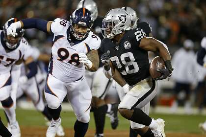 Raiders Josh Jacobs Bounces Back From 23 Carry Nfl Debut Sfchronicle Com