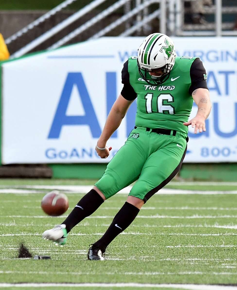 Shenendehowa graduate Justin Rohrwasser of the Marshall football team. (Courtesy of Marshall University)