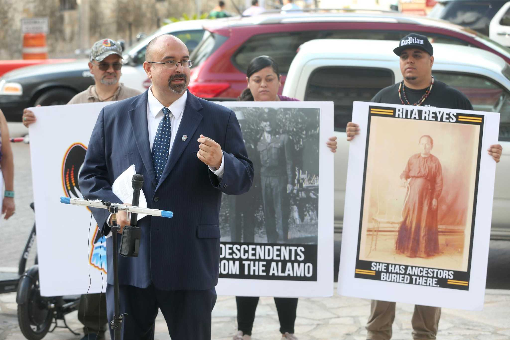Lawsuit over Alamo burial grounds reflects wider ferment