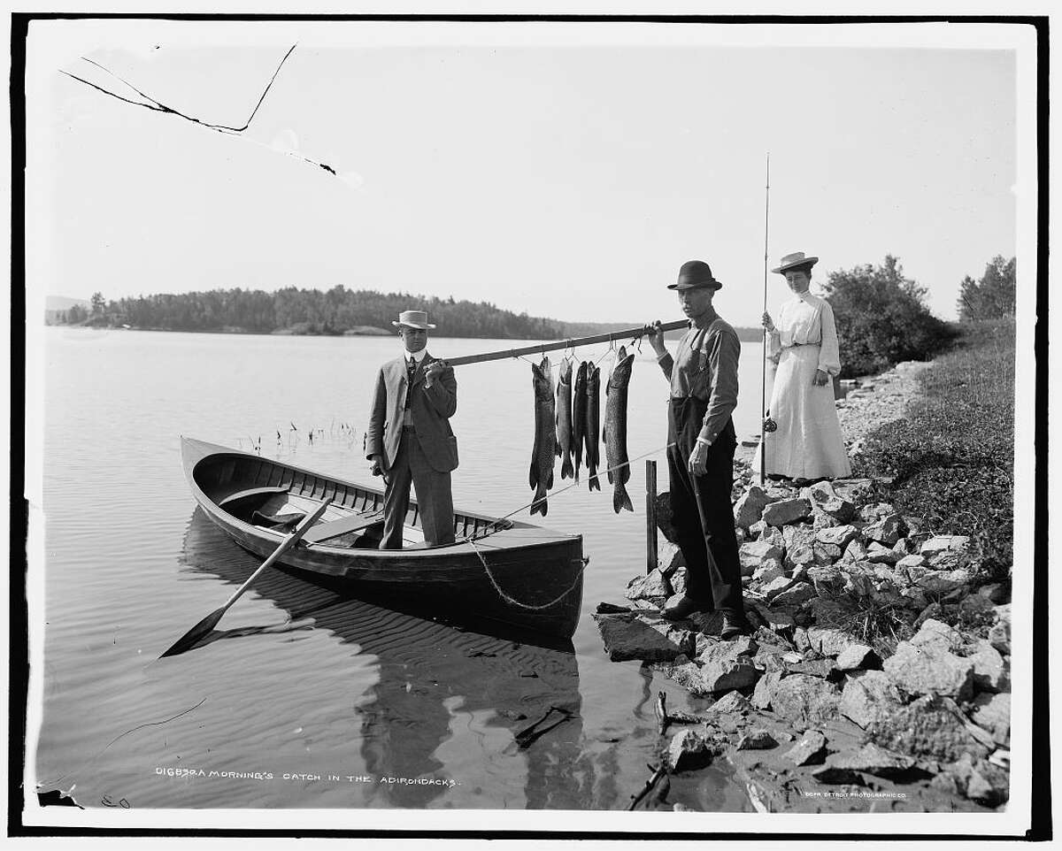 A Morning's catch in the Adirondacks, circa 1903, Detroit Publishing Co.