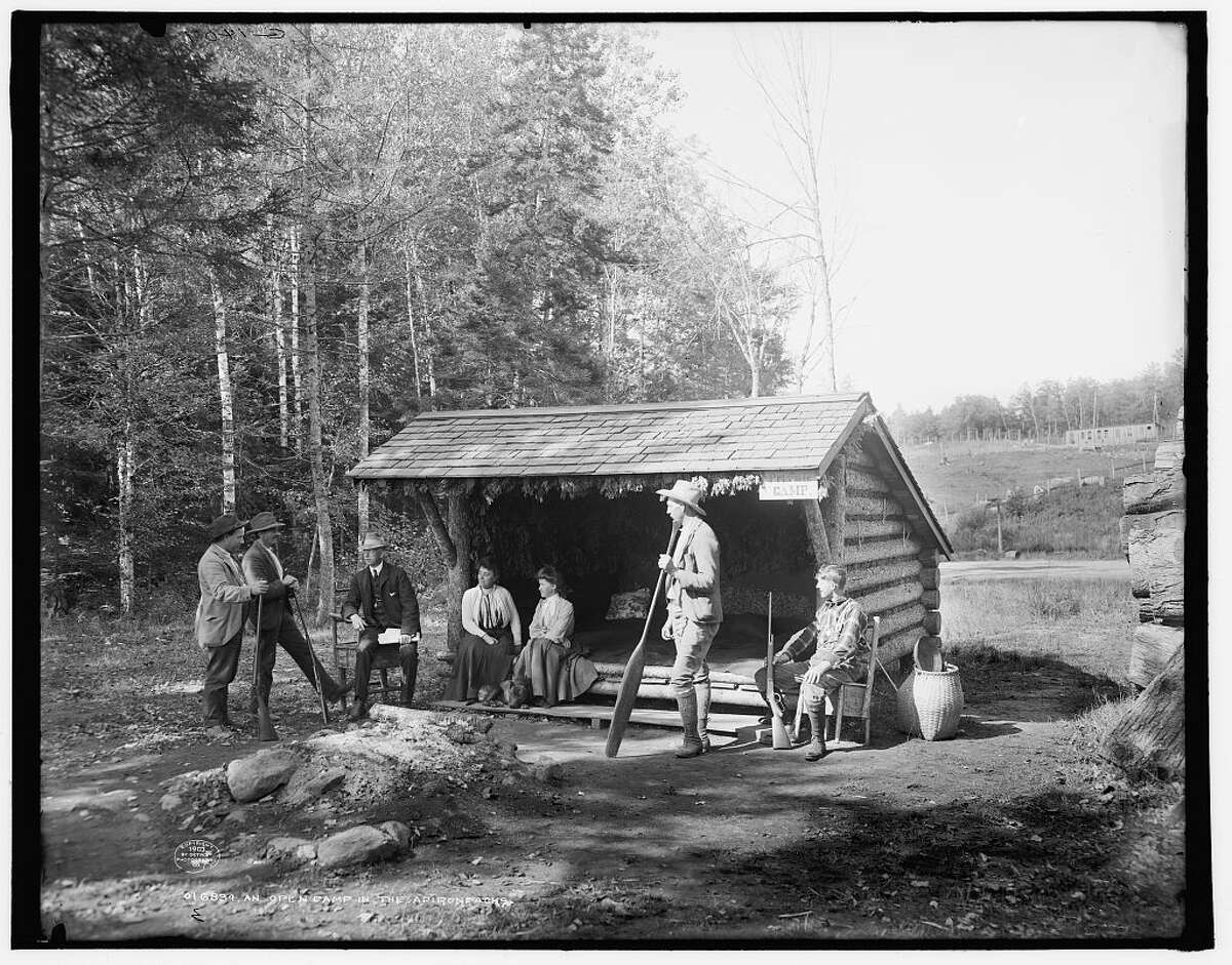 An Open camp in the Adirondacks, circa 1903, Detroit Publishing Co.