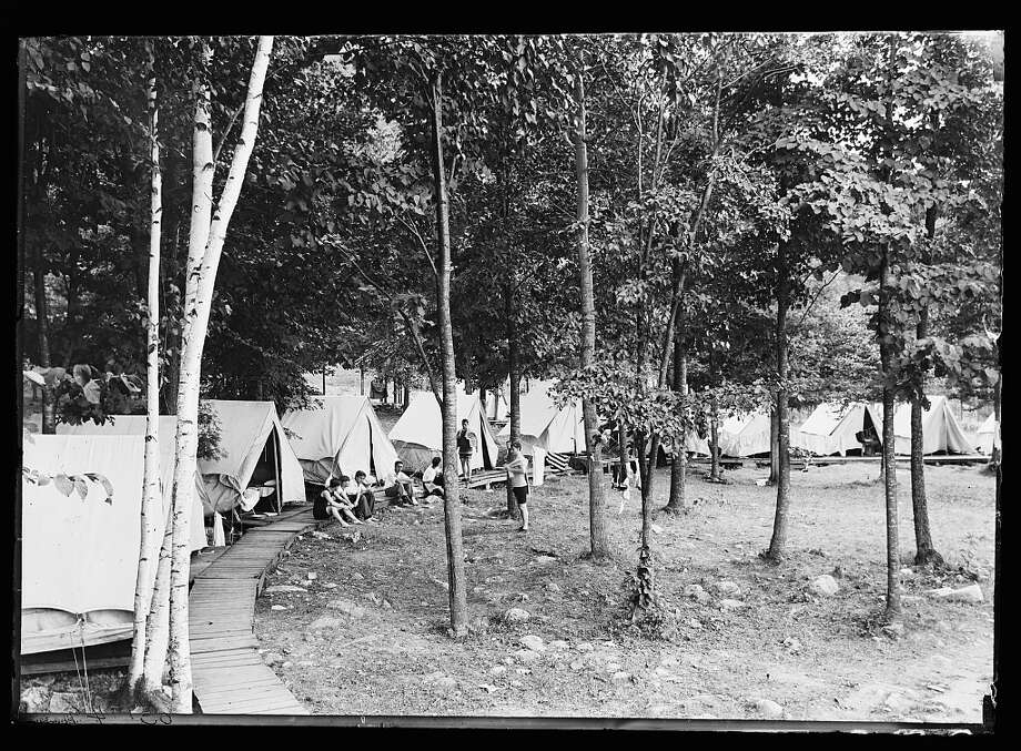 What was life like in the Adirondacks back in the day? Keep clicking. Camping in the woods, between 1900 and 1915. Detroit Publishing Co. Photo: Library Of Congress