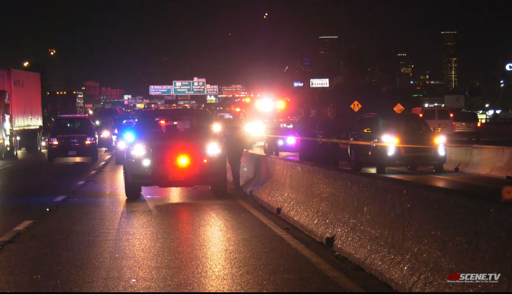 Pedestrian hit and killed on Gulf Freeway in Houston
