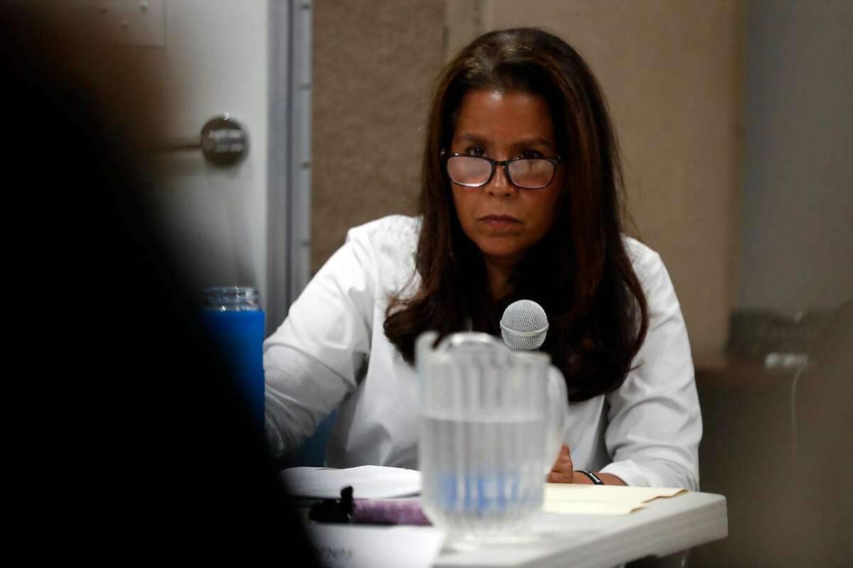 Commissioner Susan Jones listens during Juvenile Justice Commission meeting in San Francisco, Calif., on Wednesday, September 11, 2019.