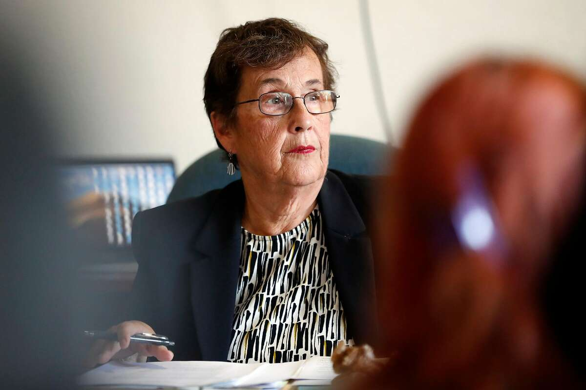 Commissioner Margaret Brodkin listens to a comment by an audience member during Juvenile Justice Commission meeting in San Francisco, Calif., on Wednesday, September 11, 2019.