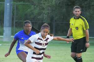 Vivian Martinez had TAMIU's lone shot on goal in Wednesday's 1-0 loss to St. Mary's.
