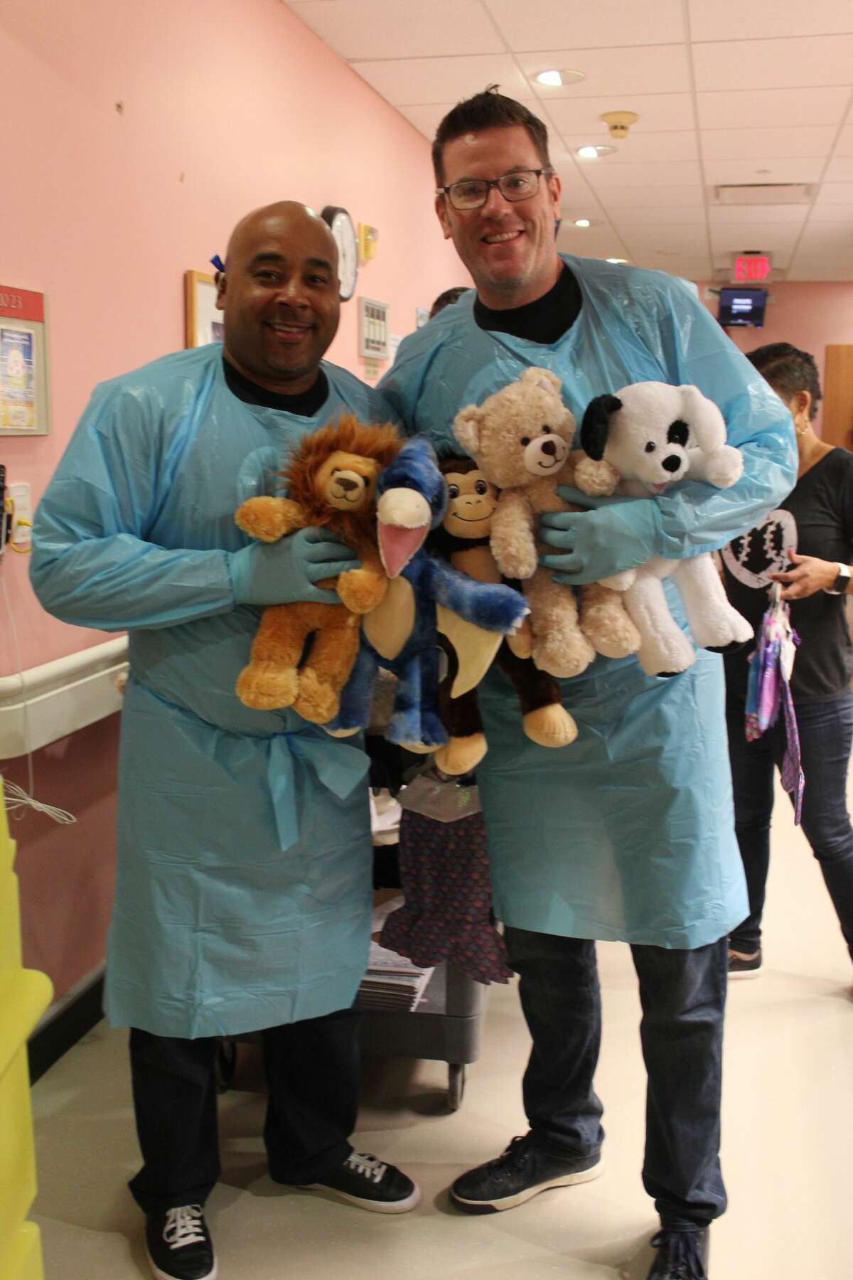 Houston native and MLB umpires Adrian Johnson and Chris Conroy are part of a group of umpires involved in UMPS CARE charities. Johnson, Conroy and their crew visit children's hospitals in all 30 MLB cities to put on Build-a-Bear workshops for the kids.