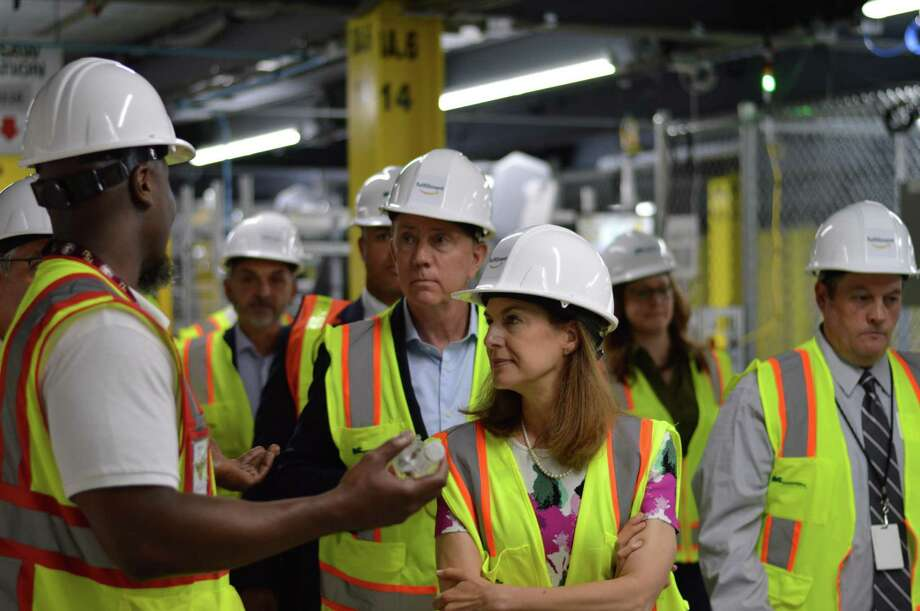 Gov. Ned Lamont and Lt. Gov. Susan Bysiewicz toured Amazon's North Haven fulfillment center for the first time Thursday June 20, 2019, part of their aggressive outreach to employers in the state. Photo: Clare Dignan / Hearst Connecticut Media /