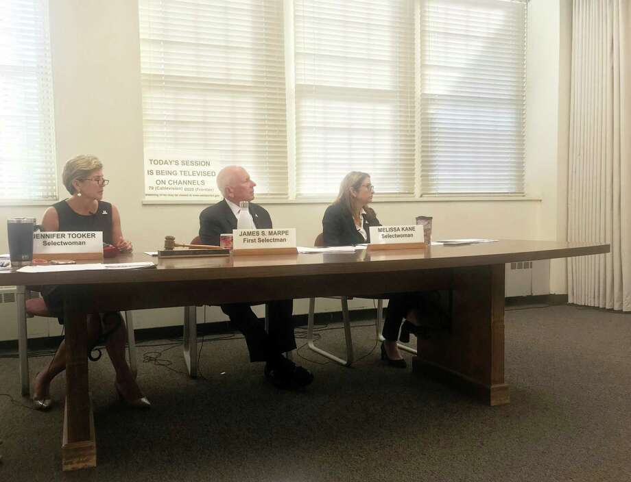 The Board of Selectmen at their meeting on Wednesday. Taken Sept. 11, 2019 in Westport, CT. Photo: Lynandro Simmons/Hearst Connecticut Media