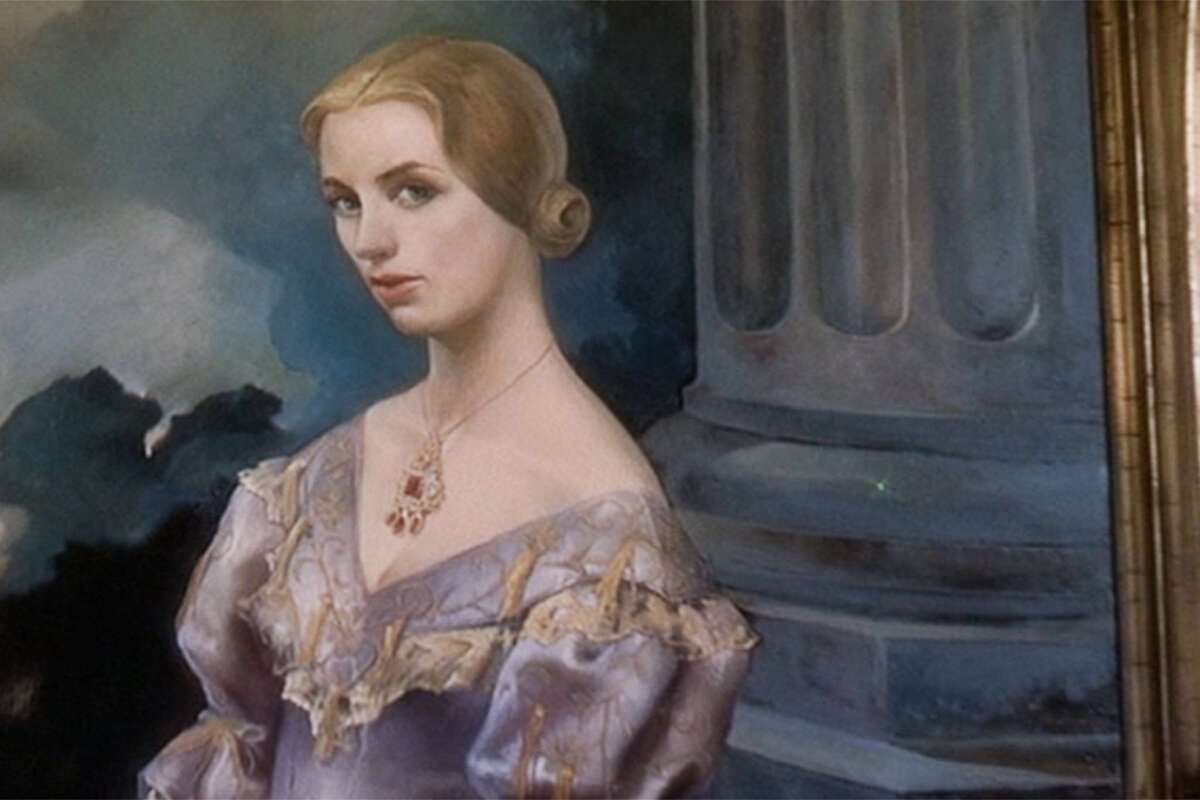 A close-up of the Portrait of Carlotta, painted by artist John Ferren for the film