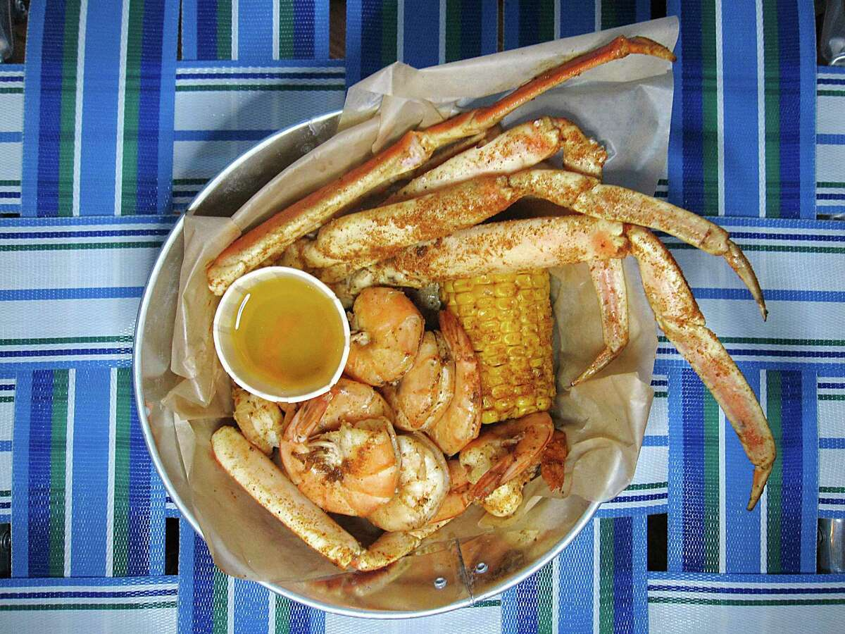 The Low Country Boil includes snow crab, shrimp, corn and potatoes at Lucy Cooper's Ice House.