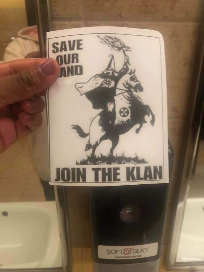 Flyers promoting the Ku Klux Klan were discovered on the East Central High School campus. Photo: Courtesy Of East Central ISD /