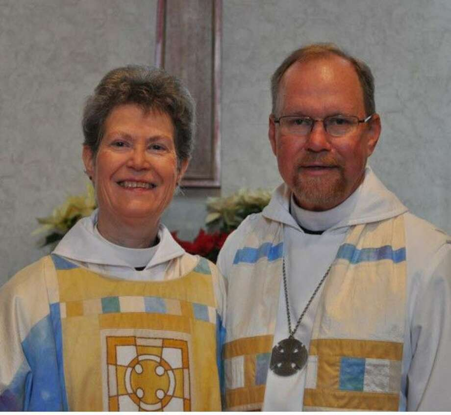 The Rev. Wendy Wilkinson will start in September as rector ofChrist the King Alief Episcopal Church. Her husband The Rev. Mark Wilkinson began working as rector in July at St. Paul's Episcopal Church in Katy. They will have been married 45 years in September. Photo: Courtesy Mark Wilkinson / Courtesy Mark Wilkinson