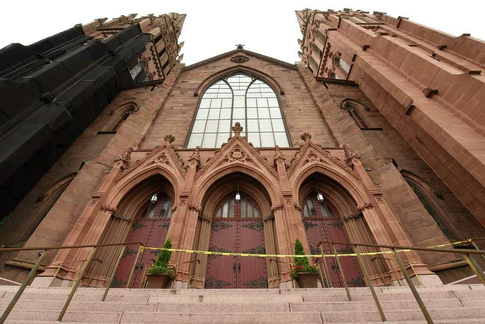 Exterior of the Cathedral of the Immaculate Conceptionon Thursday, Sept. 12, 2019 in Albany, N.Y. (Lori Van Buren/Times Union)