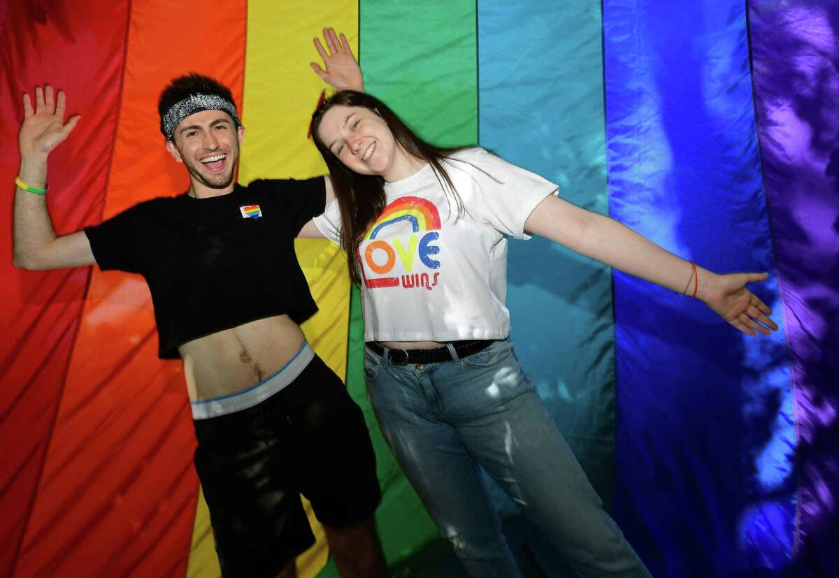 The annual Fairfield County Pride in the Park Saturday, June 8, 2019, at Lockwood Mathews Park in Norwalk, Conn. A rainbow crosswalk will be installed in front of the park in the fall.