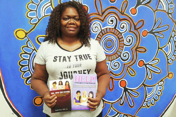 Angela Gray, a social worker at Alton High School for 17 years, finished her second book last month addressing anger issues and attitude problems among young girls.