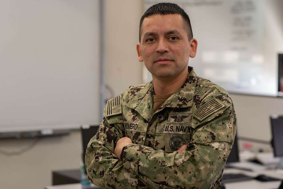 Senior Chief Petty Officer Jaime Romero, a native of Houston, has been in the U.S. Navy for 15 years. Photo: Mass Communication Specialist 2nd Class Jackson Brown / U.S. Navy