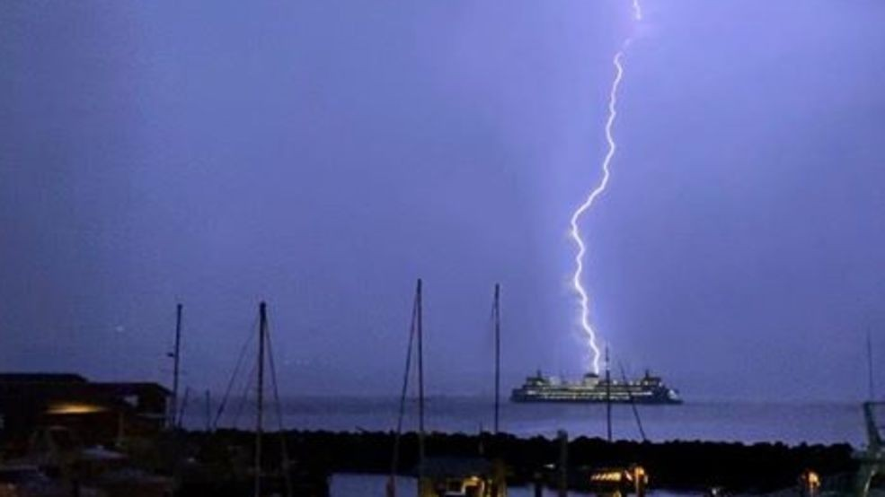 Riding a ferry in a thunderstorm? You'll be fine, thanks to a 'lightning cage'