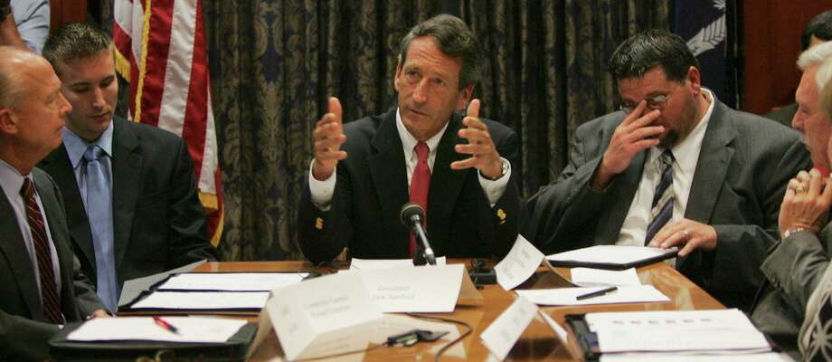 In 2009, South Carolina Gov. Mark Sanford apologizes to his state chiefs for keeping them in the dark when he went to Argentina to see his mistress. In 2020, he's unaware his time has passed. Photo: Mary Ann Chastain / Associated Press / AP