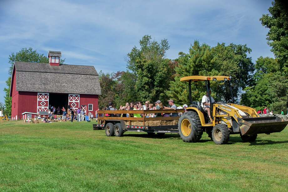 Hay rides are a signature event at Ambler Farm Day. This year it's Sunday, Sept. 22, from noon to 4. Photo: Bryan Haeffele / Hearst Connecticut Media / Connecticut Post