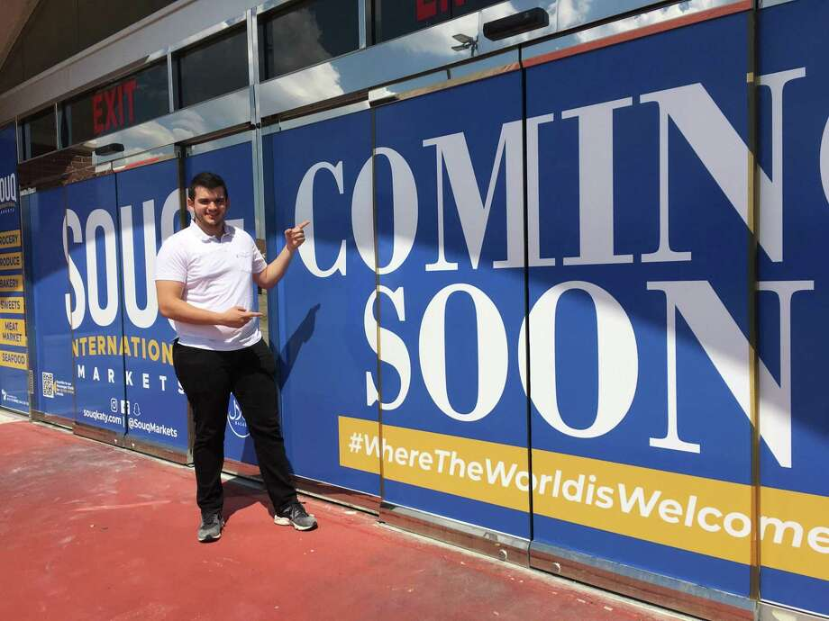 Jordan Satary, co-founder, Souq International Market, would like to open the store at 1525 S. Mason Road before the holidays. The building, which was a former Randalls and a former zTAO Marketplace, is under renovation. Photo: Karen Zurawski / Karen Zurawski
