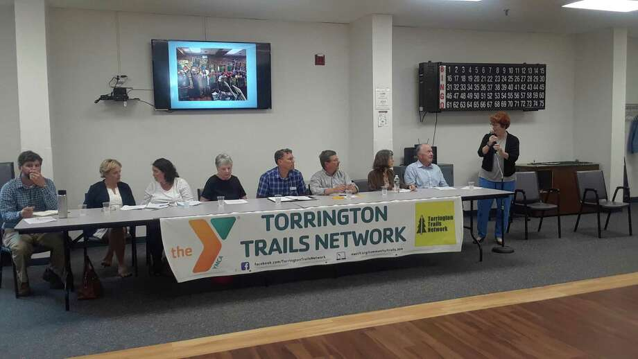 The Torrington Trails Network hosted an informational meeting Wednesday at the Sullivan Senior Center, detailing their accomplishments and asking for more involvement from the community. Photo: Emily M. Olson / Hearst Connecticut Media /