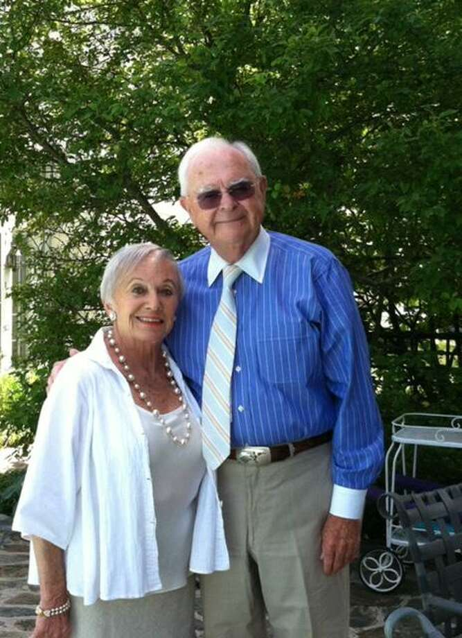 Former Ridgefield residents Gabby and David Tracy. Photo: Contributed Photo