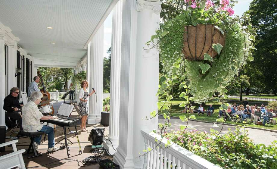The Brian Butler Quartet performed at the Lounsbury House in Ridgefield, Connecticut on Sunday, September 8, 2019 as part of the Ridgefield Jazz, Funk and Blues Weekend. Brian Butler plays drums for the crowd as Eric Van Laer is on bass, Bill Lance on keyboard and Noreen Mola sings. The Brian Butler Quartet performed at the Lounsbury House in Ridgefield, Connecticut on Sunday, September 8, 2019 as part of the Ridgefield Jazz, Funk and Blues Weekend. Brian Butler plays drums for the crowd as Eric Van Laer is on bass, Bill Lance on keyboard and Noreen Mola sings. Photo: Bryan Haeffele / Hearst Connecticut Media / Hearst Connecticut Media