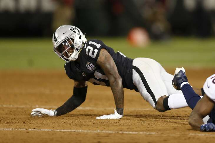 Oakland Raiders cornerback Gareon Conley during the second half of an NFL football game against the Denver Broncos Monday, Sept. 9, 2019, in Oakland, Calif. (AP Photo/D. Ross Cameron)