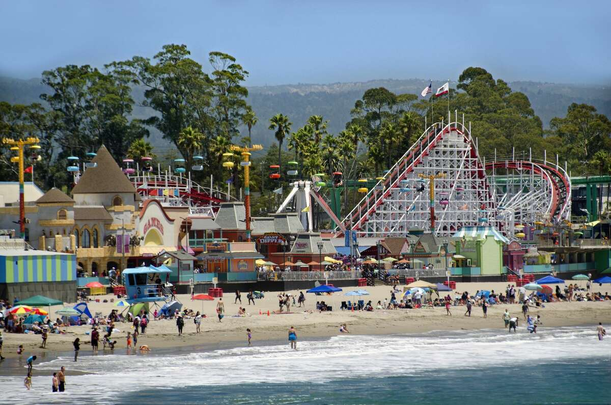 A view of the summer crowd at Santa Cruz's Main Beach, taken on July 23, 2019. On Tuesday, the city decided to set an overnight curfew in addition to a ban on