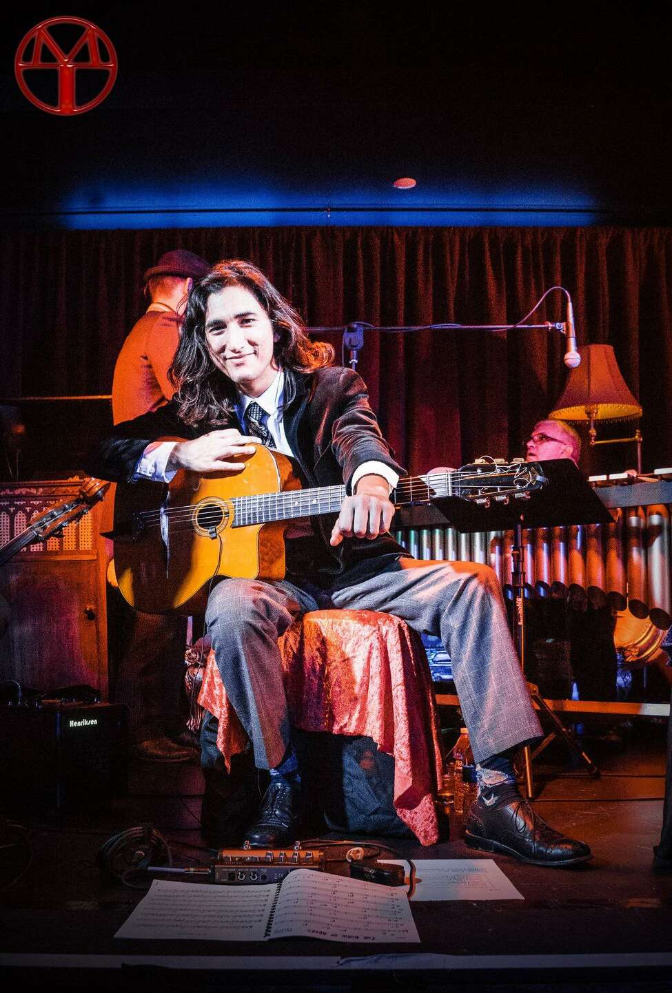 Guitarist Luca Pino, the latest musician-in-residence with the Hot Club of Saratoga (photo courtesy Hot Club of Saratoga)