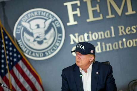 President Donald Trump during a briefing on Hurricane Dorian at Federal Emergency Management Agency headquarters in Washington, Sept. 1, 2019.