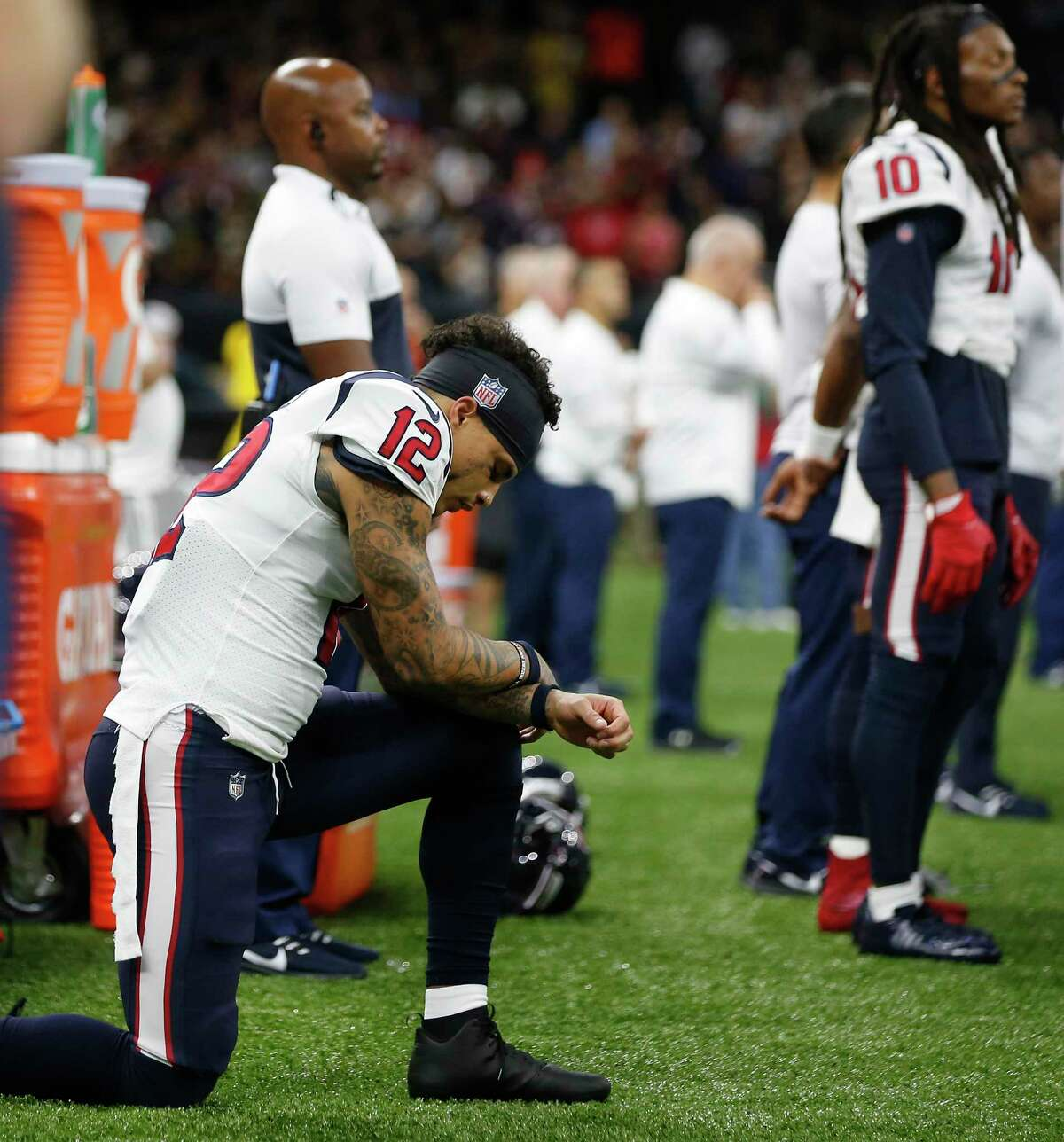 Kenny Stills, taking a knee during the national anthem, runs a mentorship program for the youth of underserved communities.